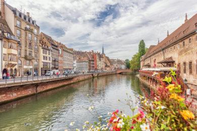 Die Stadt Strasbourg im Elsass in Frankreich