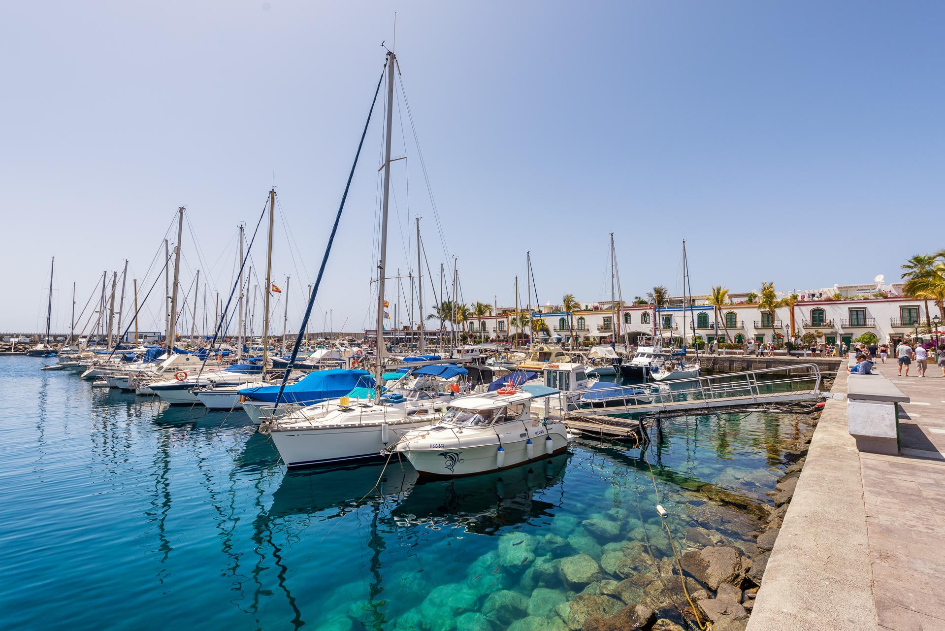 Der Hafen von Puerto de Mogán auf der Insel Gran Canaria in Spanien